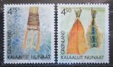 Poštovní známka Grónsko 2001 Kulturní dědictví Mi# 366-67
