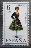 Poštovní známka Španělsko 1967 Lidový kroj Burgos Mi# 1709