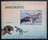 Poštovní známka Mosambik 2007 Dinosauři DELUXE neperf. Mi# 2974 B Block