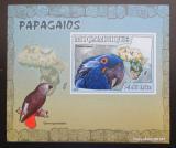 Poštovní známka Mosambik 2007 Papoušci DELUXE neperf. Mi# 3023 B Block