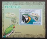 Poštovní známka Mosambik 2007 Papoušci DELUXE neperf. Mi# 3025 B Block