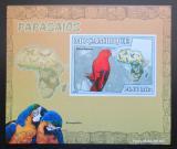 Poštovní známka Mosambik 2007 Papoušci DELUXE neperf. Mi# 3026 B Block