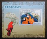 Poštovní známka Mosambik 2007 Papoušci DELUXE neperf. Mi# 3028 B Block