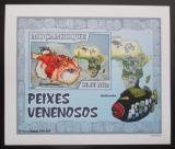 Poštovní známka Mosambik 2007 Jedovaté ryby DELUXE neperf. Mi# 2949 B Block