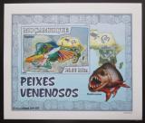 Poštovní známka Mosambik 2007 Jedovaté ryby DELUXE neperf. Mi# 2950 B Block