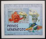 Poštovní známka Mosambik 2007 Jedovaté ryby DELUXE neperf. Mi# 2952 B Block