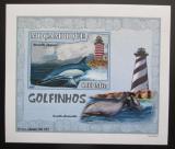 Poštovní známka Mosambik 2007 Delfíni DELUXE neperf. Mi# 3046 B Block