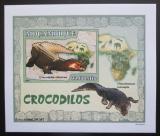 Poštovní známka Mosambik 2007 Krokodýli DELUXE neperf. Mi# 2987 B Block