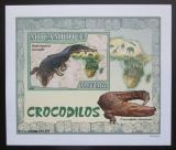 Poštovní známka Mosambik 2007 Krokodýli DELUXE neperf. Mi# 2988 B Block
