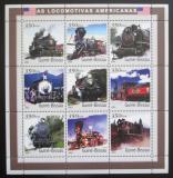 Poštovní známky Guinea-Bissau 2001 Americké parní lokomotivy Mi# 1791-99 Kat 13€