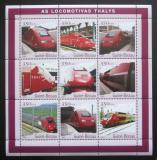Poštovní známky Guinea-Bissau 2001 Lokomotivy Thalys Mi# 1863-71 Kat 13€