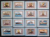 Poštovní známky Adžmán 1973 Lodě DELUXE Mi# 2861-76 Block