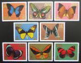 Poštovní známky Adžmán 1971 Motýli Mi# 747-54