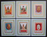 Poštovní známky Manáma 1970 Japonské sochy DELUXE Mi# 298-303 Block Kat 24€