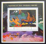 Poštovní známka Manáma 1971 Umění, Paul Gauguin Mi# Block 169 A Kat 10€