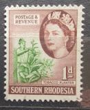 Poštovní známka Jižní Rhodésie, Zimbabwe 1953 Tabák Mi# 81