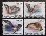 Poštovní známky Burundi 2011 Netopýři Mi# 2046-49 Kat 9.50€
