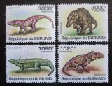 Poštovní známky Burundi 2011 Prehistoričtí krokodýli Mi# 2070-73 Kat 9.50€