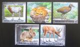 Poštovní známky Burundi 2012 Ohrožená zvířata Mi# 2585-89 Kat 10€