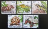 Poštovní známky Burundi 2012 Plazi Mi# 2560-64 Kat 10€