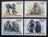 Poštovní známky Burundi 2011 Opice Mi# 2078-81 Kat 9.50€