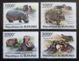 Poštovní známky Burundi 2011 Hroši Mi# 1982-85 Kat 9.50€