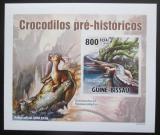 Poštovní známka Guinea-Bissau 2010 Prehistoričtí krokodýli DELUXE Mi# 5210 B Block