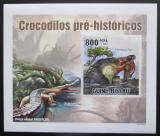 Poštovní známka Poštovní známka Guinea-Bissau 2010 Prehistoričtí krokodýli DELUXE Mi# 5211 B Block