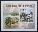 Poštovní známka Guinea-Bissau 2010 Prehistoričtí krokodýli DELUXE Mi# 5212 B Block