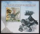 Poštovní známka Guinea-Bissau 2008 Dinosauři a minerály DELUXE Mi# 3854 Block