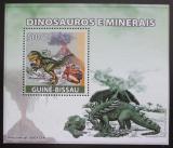 Poštovní známka Guinea-Bissau 2008 Dinosauři a minerály DELUXE Mi# 3855 Block
