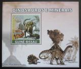 Poštovní známka Guinea-Bissau 2008 Dinosauři a minerály DELUXE Mi# 3856 Block