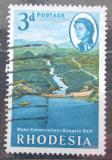 Poštovní známka Rhodésie, Zimbabwe 1965 Přehrada Bangala Mi# 4