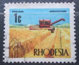 Poštovní známka Rhodésie, Zimbabwe 1970 Kombajn Mi# 88