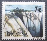 Poštovní známka Rhodésie, Zimbabwe 1973 Viktoriiny vodopády Mi# 129