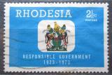 Poštovní známka Rhodésie, Zimbabwe 1973 Státní znak Mi# 135