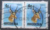 Poštovní známky Rhodésie, Zimbabwe 1974 Bahnivec jižní pár Mi# 143