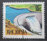 Poštovní známka Rhodésie, Zimbabwe 1970 Přehrada Kariba Mi# 96