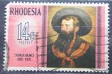 Poštovní známka Rhodésie, Zimbabwe 1975 Thomas Baines, malíř Mi# 159