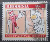 Poštovní známka Rhodésie, Zimbabwe 1975 Bezpečnost práce Mi# 169