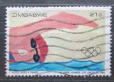 Poštovní známka Zimbabwe 1984 LOH Los Angeles, plavání Mi# 290