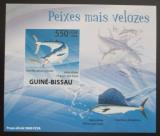 Poštovní známka Guinea-Bissau 2009 Ryby DELUXE neperf. Mi# 4343 B Block