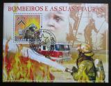 Poštovní známka Guinea-Bissau 2009 Hasiči Mi# Block 716 Kat 14€
