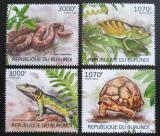 Poštovní známky Burundi 2012 Plazi Mi# 2560-63 Kat 10€