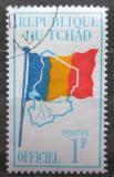 Poštovní známka Čad 1966 Státní vlajka, služební Mi# 1
