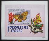Poštovní známka Mosambik 2007 Motýli DELUXE neperf. Mi# 2932 B Block