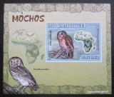 Poštovní známka Mosambik 2007 Sovy DELUXE neperf. Mi# 3017 B Block