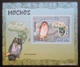 Poštovní známka Mosambik 2007 Sovy DELUXE neperf. Mi# 3019 B Block