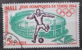 Poštovní známka Mali 1964 LOH Tokio, fotbal Mi# 86