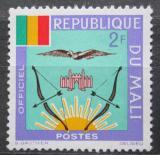 Poštovní známka Mali 1964 Státní znak, služební Mi# 13